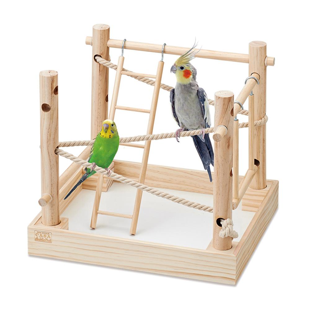 マルカン CASA 小鳥の庭箱アスレチック 中身