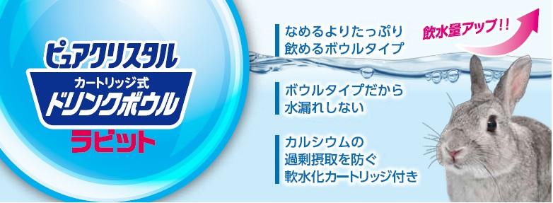 GEX ピュアクリスタル ラビット 飲水量アップ!