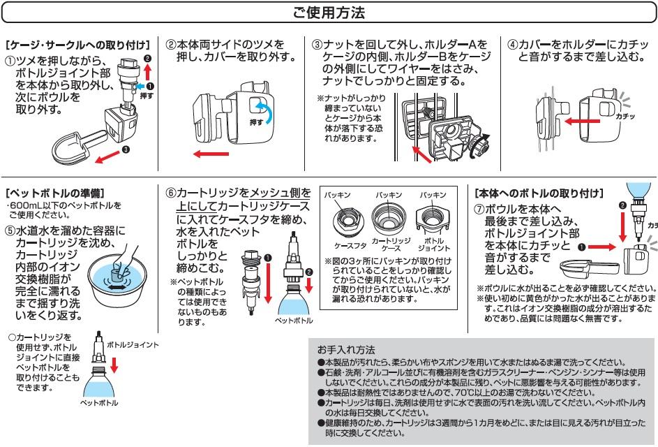 GEX ピュアクリスタル ラビット ご使用方法